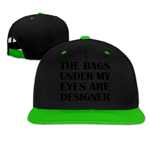 LLALUA The Bags Under My Eyes Are Designer Hip Hop Baseball Hat Adjustable Men's Green -