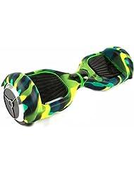 Funda Carcasa Protector de Silicona para 6.5 Inch Hoverboard Smart Balance Wheel Patinete Electrico Dos Ruedas (Verde)