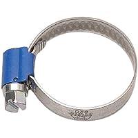 ABA 841483 - Abrazadera para tubos flexibles, 25 - 40 mm (rosca helicoidal, ancho de fleje 9 mm, 10 unidades) color azul