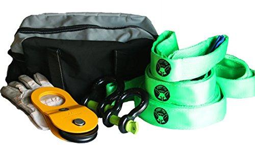 Preisvergleich Produktbild Forstset Bergeset Offroad Set Umlenkrolle Baumgurte Tasche Schäkel Handschuhe