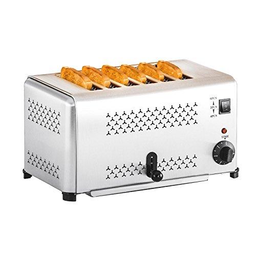 Royal Catering - RCET-6E - Tostadora industrial para 6 rebanadas - 2.500 W - Envío Gratuito