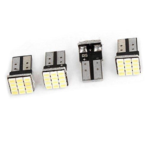 T10 lampe de voiture - TOOGOO(R)T10 W5W Canbus blanc lampe de voiture LED 12-SMD 1206 d¡¯ampoules 12V 4 pieces