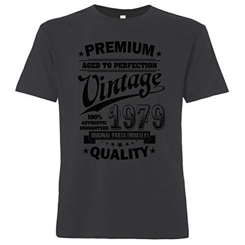 OutlawTex - Aged to Perfection 1979 zum 40. Geburtstag - Herren T-Shirt Grau XL