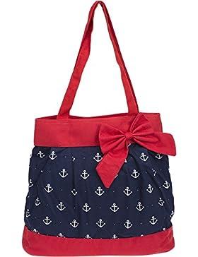 Küstenluder TEGAN Sailor ANCHOR Anker Nautical Bow TASCHE Shopper Rockabilly
