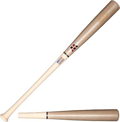 Mpowered Baseball MP-011 Maple High Performance Trajectory Baseball Bat, MLB Grey Barrel with Raw Handle, 33-Inch/30-Ounce