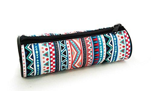 Estuches plumier la tuba caja de lápices ronda multicolor Aztec [025]