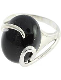 Bague en Onyx noir 58-04 - Bijoux en et Onyx noir - Toutes tailles et diverses pierres - ARTIPOL