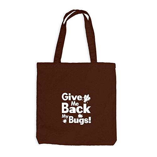 Jutebeutel - Give Me Back my bugs - Fun Style Käfer Chocolate