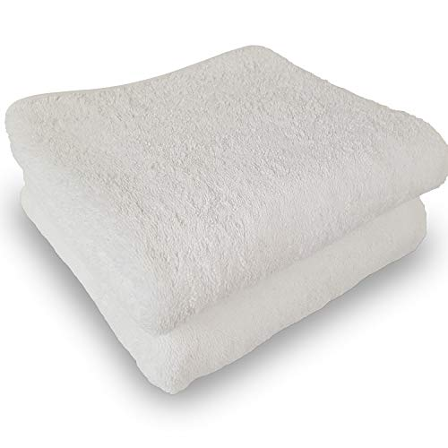 Diluma Handtuch Luxury-Line 50x100 cm 2er Set - Flauschige und saugstarke Premium Frottiertücher aus 100{73cae8aec28f7421bf383121dc8109c2f652e3d70f2b7f16984802844986cdc5} Baumwolle in Premium 630g/m Hotelqualität, Farbe:Weiß