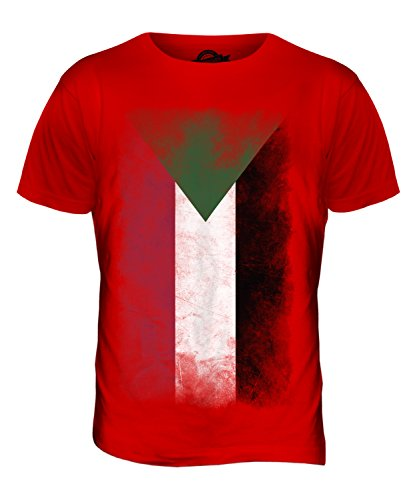CandyMix Sudan Verblichen Flagge Herren T Shirt Rot