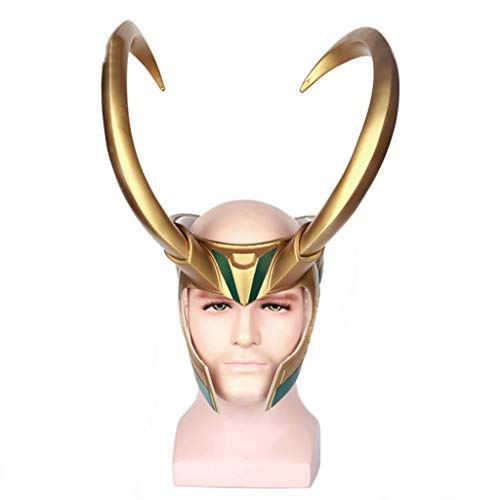 Avengers Loki The Kostüm - nihiug Avengers Thor 3 Rocky Loki Helm Cos Hut Maske Requisiten Halloween-Kostüm,Gold-OneSize