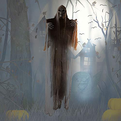 tropicalboy Halloween Deko 180cm Groß Geist Gespenst Hängend Gruselig Skelett Figur Horror Dekoration für Halloween Mottoparty (Gelb-180cm)