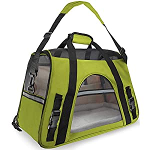 Binrrio-Pet-carrierDog-CarrierCat-CarrierAirline-Approved-Portable-Collapsible-Mesh-Breathable-for-Small-Puppy-Dogs-Cats-Travel-Bag-Can-be-Connected-with-Car-Seat-Belts