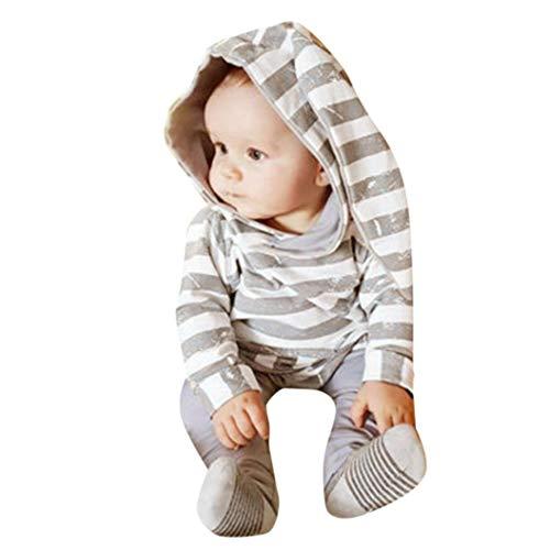 VICGREY ❤ Felpe per Bambini Vestiti Casuali dei Bambini Abbigliamento Manica Lunga Tops + Pantaloni,Bambino Neonato Cartone Animato Coniglio Orecchio Cappuccio Tuta Pullover
