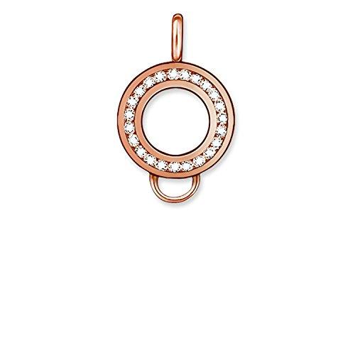 Thomas Sabo–Thomas Sperren X0183–416–14Für Charms mit/Charm Carrier Silber vergoldet Rosa Zirkonia Weiß 15mm (Sperren Carrier Von)