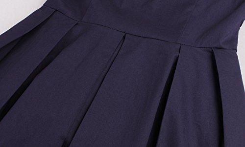VKStar® Retro Kleider 50er Spitze Abendkleid Kurzarm Cocktailkleid Vintage Kleider Damen Rockabilly S-4XL Weinrot
