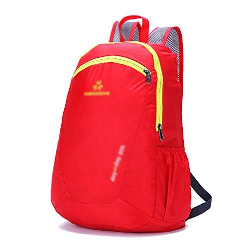 HWLXBB Outdoor Bergsteigen Tasche Männer und Frauen 20L Wasserdichte Mehrzweck-Bergsteigen Tasche Wandern Camping Bergsteigen Freizeit Rucksack Rucksack 6*