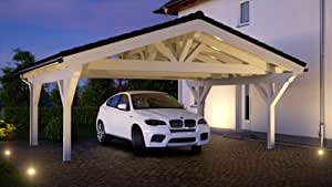 spitzdachcarport satteldachcarport x von garten. Black Bedroom Furniture Sets. Home Design Ideas
