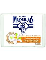 Le Petit Marseillais Set de 4 Savons Extra Doux Fleur d'Oranger 100g - Lot de 5