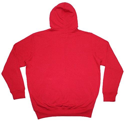 Big & Tall NHL mens Carolina Hurricanes Athletic zip-up hoodie/Jacket, Uomo, Red Red
