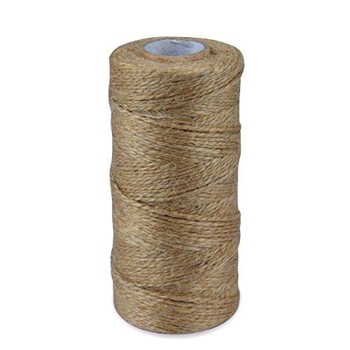 maxenvision 300Füße Natürliche Jute Bindfäden Seil Hanfschnur Art Craft Geschenk Bindfäden Industrie Verpackung String