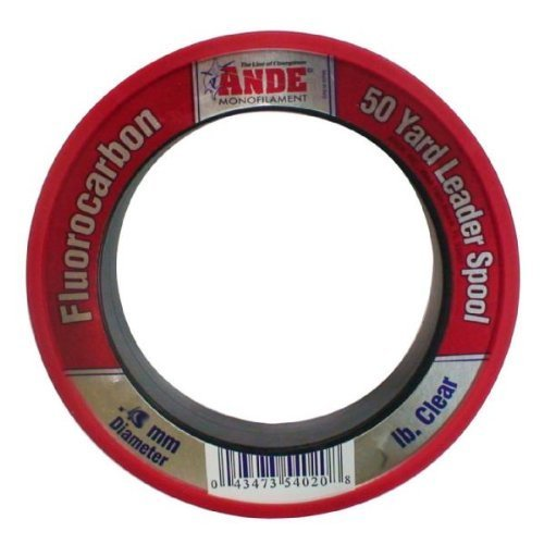 Ande FPW-50-60 Fluorocarbon Leader Material, 50-Yard Spool, 60-Pound Test, Pink Finish by Ande (Fluorocarbon Spool Leader)