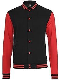 URBAN CLASSICS 2-Tone College Sweatjacke TB207 black/red XL