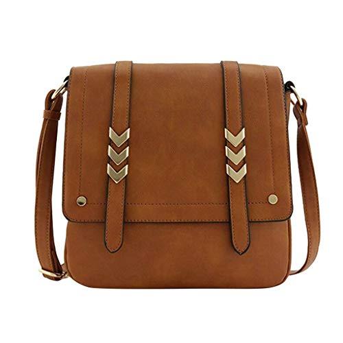 Sllowwa Damen Schultertasche Handtasche Double Compartment Large Freizeittasche Handtasche Schultertasche Handtasche Taschen 010313