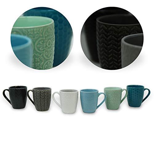 DRULINE Geschirrserie Inari Porzellan Service Geschirrset Tafelservice Kombiservice 6 x Kaffeetasse 150 ml