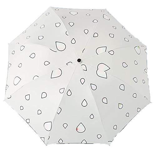 Lirener Paraguas de Cambio de ColorGota de Agua