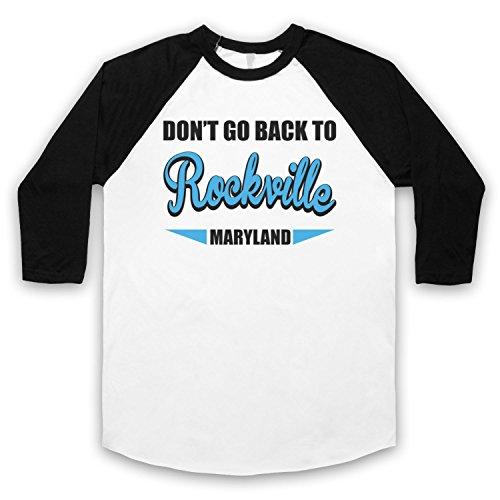 Inspiriert durch REM Rockville Unofficial 3/4 Hulse Retro Baseball T-Shirt Weis & Schwarz