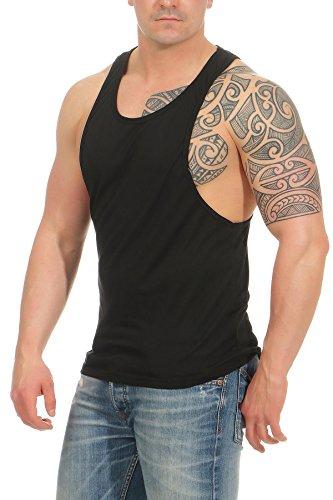 Happy Clothing - Camiseta sin Mangas para Entrenamiento Deportivo - Culturismo - Tirantes, Camiseta sin Mangas, acentúa la Musculatura