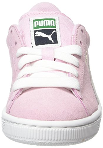 Puma Unisex Kids  Suede Ps Low-Top Trainers  Pink  Pink Lady White    11 5 UK 30 EU