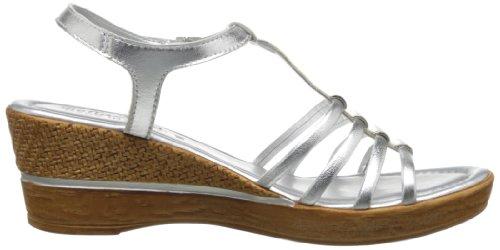 Bella Vita Caramelle Cuir Sandales silver