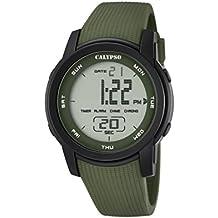 Calypso – Reloj Digital Unisex con LCD Pantalla Digital Dial y Correa de plástico ...
