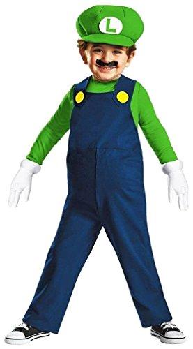 Kostüm Luigi für Babys 92/98 (2-3 (Super Kostüme Mario Babys)
