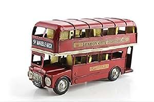 Lesser Pavey Figurine de collection & Étui de Transport rouge en étain en forme de Bus à impériale de Londres des fins d'excursion