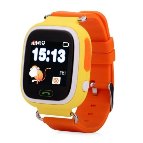 Elepaio Kids Smart Watch, Touchscreen GPS Tracker Sim Card Smartwatch Phone Anti-lost Finder with SOS Call Children Wristwatch Fitness Tracker Bracelet with Parents Control App for Android IOS (Yellow)