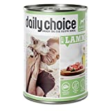 daily choice | Mit Lamm | 24 x 400 g | Nassfutter für Hunde | Viel Fleisch | Getreidefrei | Optimal verdaulich Tierversuche, Zucker, Farb- & Konservierungsstoffe
