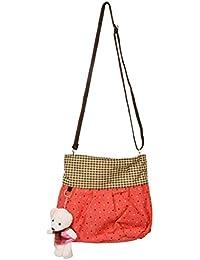 Sling Bag for Girls (Peach, 77)
