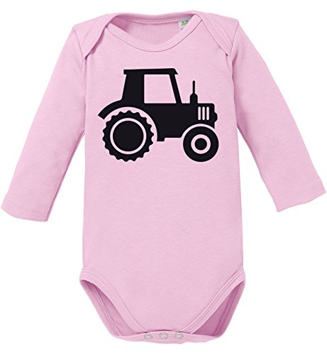 Traktor - Aufdruck für Landwirtschaft begeisterte Kinder - Bio Baby Langarmbody (Langarm-shirt-feld)