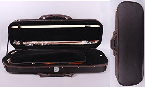 Yinfente professionale robusta custodia per violino 4/4Full size, forma ovale in legno duro custodia per violino Good con igrometro, Lock, capienti e cinghie regolabili, robusta