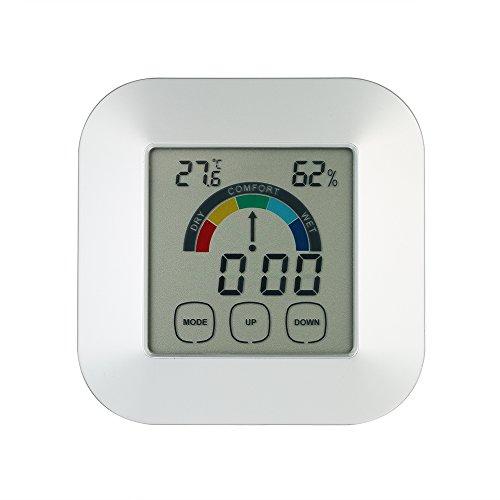 KKmoon Thermometer Hygrometer ?Indoor Komfortanzeige Smart Digital Touchscreen Bunte Bildschirm Hintergrundbeleuchtung Uhr? (Gateway-touchscreen)