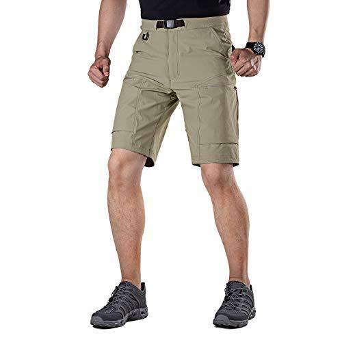FREE SOLDIER Herren Cargo-Shorts, atmungsaktiv, leicht, schnell trocknend, Taktische Shorts Nylon Spandex - Braun - 54 DE - Klettern Nylon Shorts