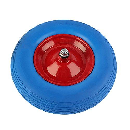 5 Reifen 16 (OUTAD 16 zoll PU Pannensicheres Schubkarrenrad 4.80/4.00-8 Reifen für Schubkarre Vollgummi Reifen mit Präzisions-Kugellager (Blau))
