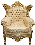 Casa Padrino Barock Wohnzimmer Set Gold Muster/ Gold – 3er Sofa+2er Sofa + 1 Sessel - 4