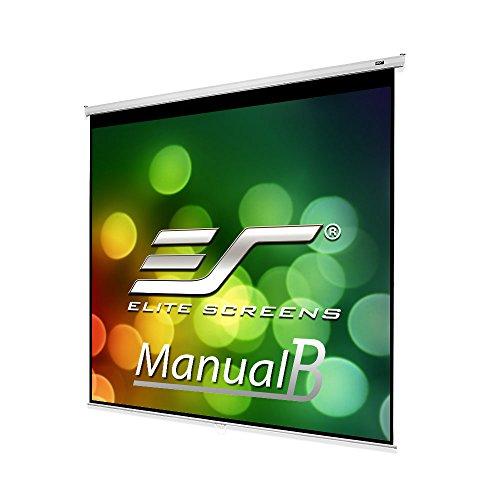 """Elite Screens M100S 100"""" 1:1 Blanco pantalla de proyección - Pantalla para proyector (Manual, 2,54 m (100""""), 179 cm, 179 cm, 1:1, Blanco)"""