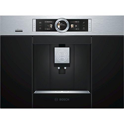 Bosch CTL636ES6 2.4L Negro, Acero inoxidable - Cafetera (Integrado, Totalmente automática, Espresso machine, Granos de café, Negro, Acero inoxidable, TFT)