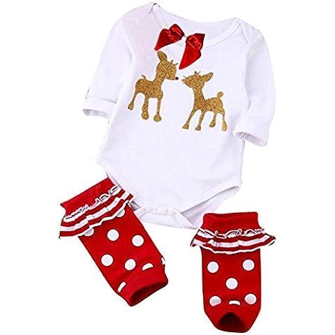 Juego de Navidad de Bodysuit del mono del mameluco Para niños recién nacidos bebé niño niña
