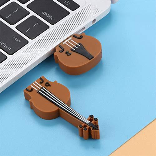 Altsommer Süße Geige Muster USB 2.0 256MB Mini USB Stick,Speicherstick 256MB, Flash Laufwerk mit Verschlüsselungsfunktion,Flash Memory Speicher Stick Speicher Daumen U Disk (Braun)